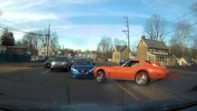Photo of Vídeo: condutor teve poucas mãos para a potência do Chevrolet Corvette